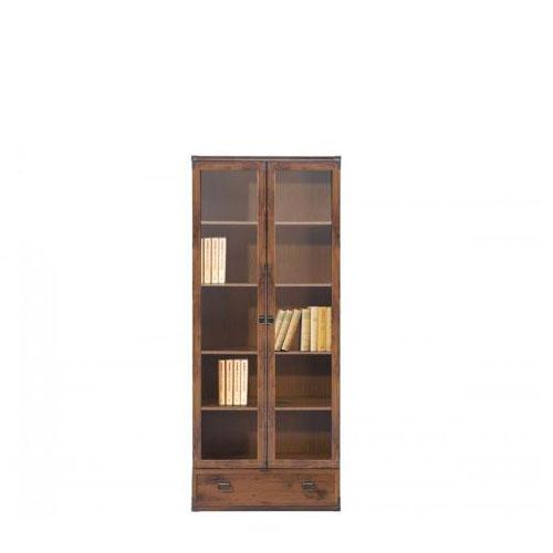 Витрина JWIT 2d1s 80 Индиана (Дуб Шуттер) - Мебельный интернет-магазин Sensey-mebel приобрести