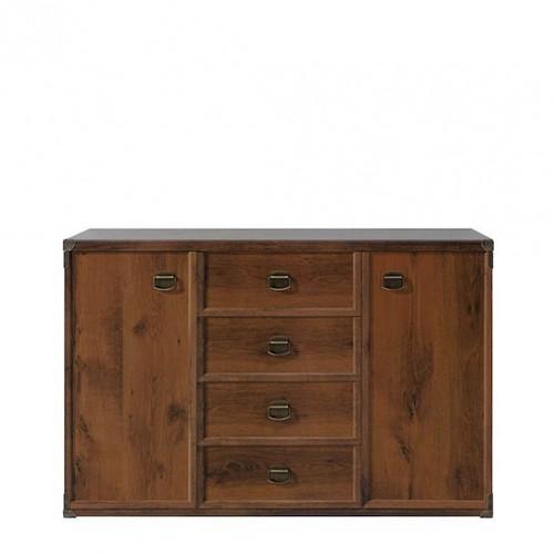Комод JKOM 2d4s 130 Индиана (Дуб Шуттер) - Мебельный интернет-магазин Sensey-mebel приобрести