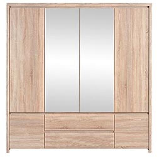 Шкаф платяной SZF 6D2S Каспиан (Дуб Сонома) - Мебельный интернет-магазин Sensey-mebel приобрести