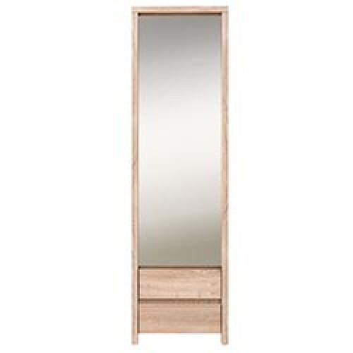 Шкаф с зеркалом SZF 1D2SP Каспиан (Дуб Сонома) - Мебельный интернет-магазин Sensey-mebel приобрести