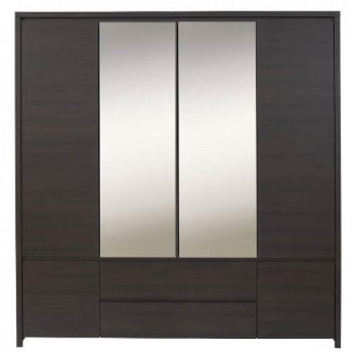 Шкаф платяной SZF 6D2S Каспиан (Венге) - Мебельный интернет-магазин Sensey-mebel приобрести
