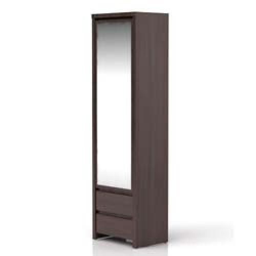 Шкаф с зеркалом SZF 1D2SP Каспиан (Венге) - Мебельный интернет-магазин Sensey-mebel приобрести