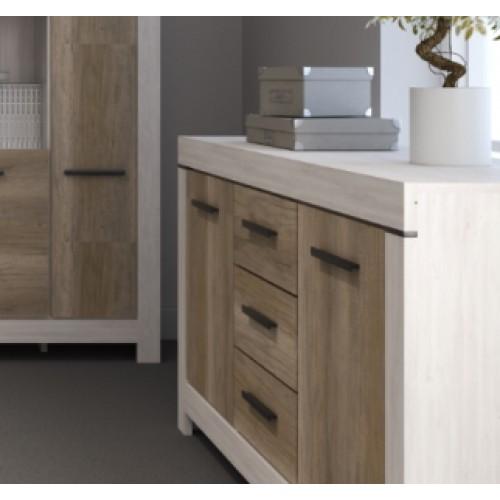 Комод KOM 2D3S Белен (Шварцвальд-Нимфея альба) - Мебельный интернет-магазин Sensey-mebel приобрести