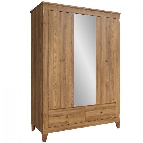 Шкаф SZF2D1M2S СН Граф (Орех верона) - Мебельный интернет-магазин Sensey-mebel приобрести