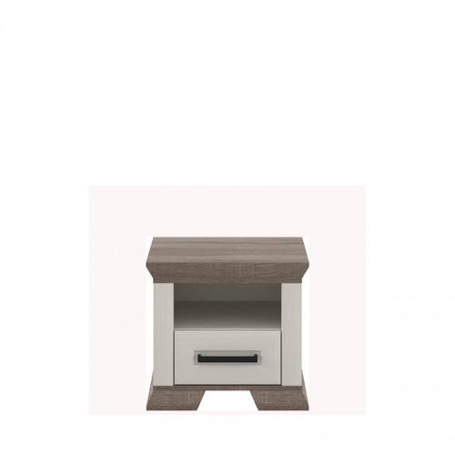 Тумба прикроватная 1S Марсель (Ясень снежный-Дуб сонома трюфель) - Мебельный интернет-магазин Sensey-mebel приобрести