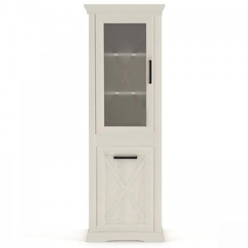 Витрина REG1D1W Марсель (Ясень снежный) - Мебельный интернет-магазин Sensey-mebel приобрести