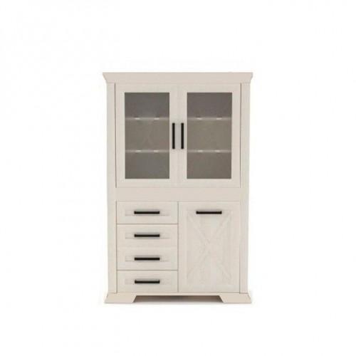 Витрина REG2W4S1D  Марсель (Ясень снежный) - Мебельный интернет-магазин Sensey-mebel приобрести