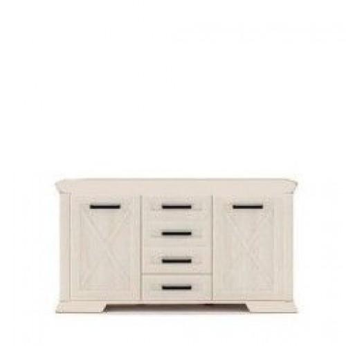 Комод KOM2D4S (1) Марсель (Ясень снежный) - Мебельный интернет-магазин Sensey-mebel приобрести