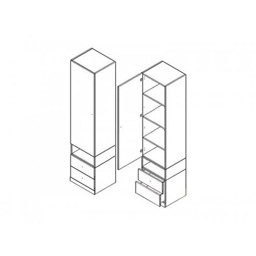 Пенал REG1D2S Моби (Нимфея альба-Дубсонома) - Мебельный интернет-магазин Sensey-mebel приобрести