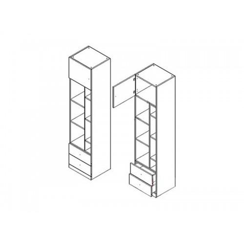 Пенал REG1D2SO Моби (Нимфея альба-Дубсонома) - Мебельный интернет-магазин Sensey-mebel приобрести