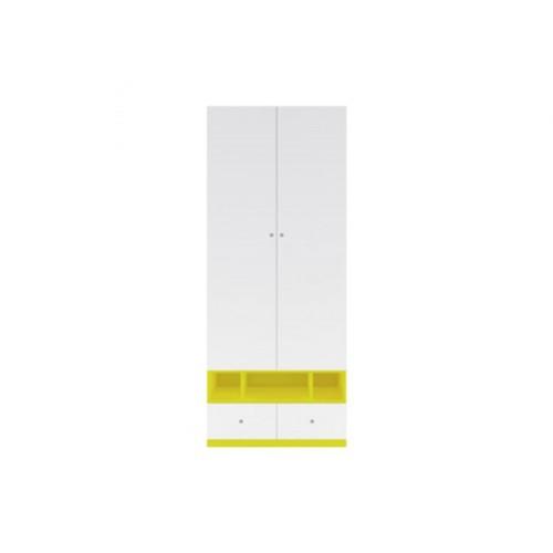 Шкаф SZF2D2S Моби (Униколир желтый) - Мебельный интернет-магазин Sensey-mebel приобрести
