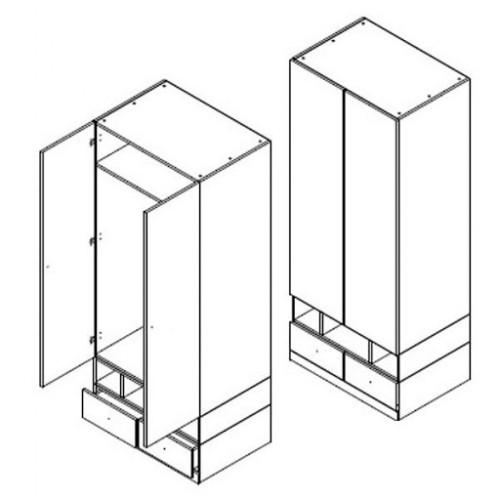 Шкаф SZF2D2S Моби (Нимфея альба-Дубсонома) - Мебельный интернет-магазин Sensey-mebel приобрести