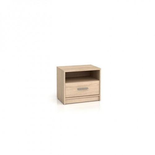 Тумба прикроватная KOM1S Непо (Дуб сонома) - Мебельный интернет-магазин Sensey-mebel приобрести