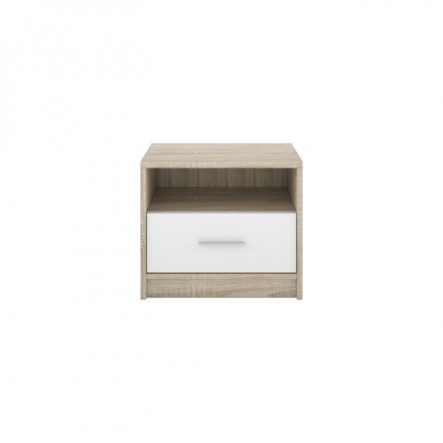 Тумба прикроватная KOM1S Непо (Дуб сонома-Нимфея альба) - Мебельный интернет-магазин Sensey-mebel приобрести