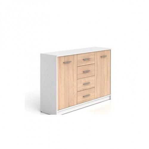 Комод KOM2D4S Непо (Нимфея альба-Дуб сонома) - Мебельный интернет-магазин Sensey-mebel приобрести