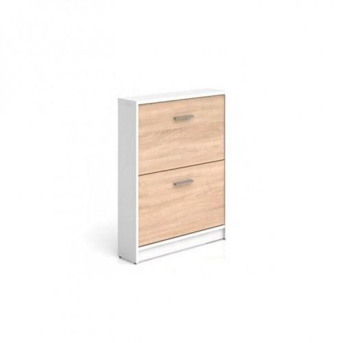 Тумба для обуви SFB2K Непо (Нимфея альба-Дуб сонома) - Мебельный интернет-магазин Sensey-mebel приобрести