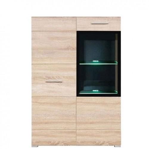 Витрина REG1D1Wm/L Вушер (Дуб сонома) - Мебельный интернет-магазин Sensey-mebel приобрести
