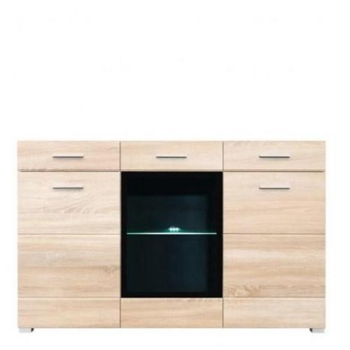 Комод KOM 1W2D2S Вушер (Дуб сонома) - Мебельный интернет-магазин Sensey-mebel приобрести