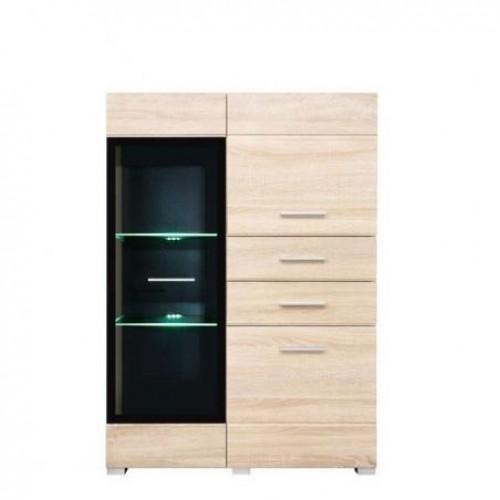 Витрина REG 1W2D2S L/P Вушер (Дуб сонома) - Мебельный интернет-магазин Sensey-mebel приобрести