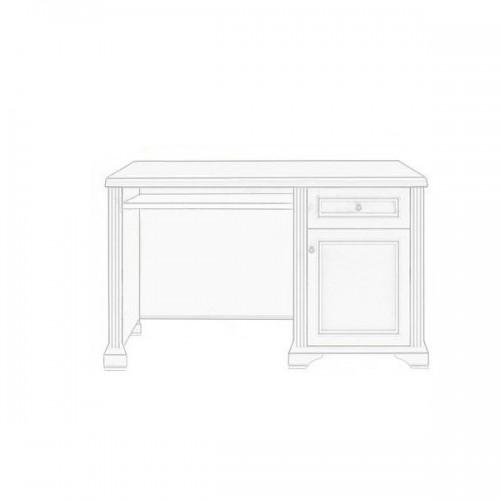 Стол письменный 130 Вайт (Сосна серебро) - Мебельный интернет-магазин Sensey-mebel приобрести