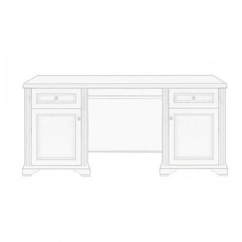 Стол письменный 170 Вайт (Сосна серебро) - Мебельный интернет-магазин Sensey-mebel приобрести