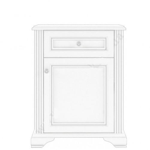 Комод 1D1S СН Вайт (Сосна серебро) - Мебельный интернет-магазин Sensey-mebel приобрести
