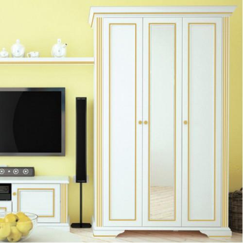 Шкаф 3D(2S)  Вайт (Сосна золото) - Мебельный интернет-магазин Sensey-mebel приобрести