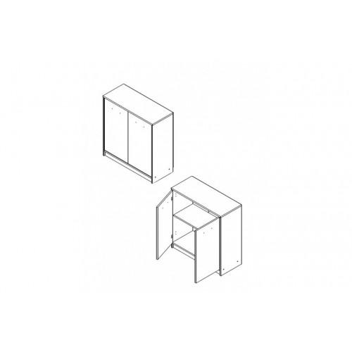Шкафчик KOM2D Непо (Нимфея альба) - Мебельный интернет-магазин Sensey-mebel приобрести