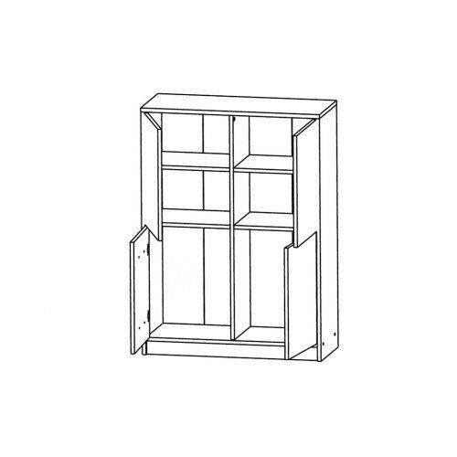 Шкафчик KOM4D Непо (Нимфея альба-Дуб сонома) - Мебельный интернет-магазин Sensey-mebel приобрести