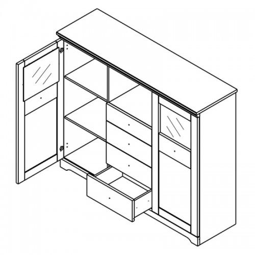 Комод KOM2D4S Патрик (Аляска) - Мебельный интернет-магазин Sensey-mebel приобрести