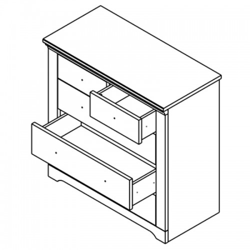 Комод KOM5S Патрик (Аляска) - Мебельный интернет-магазин Sensey-mebel приобрести