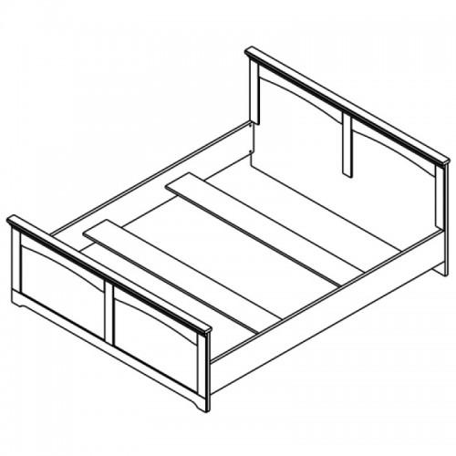Кровать LOZ160 (каркас) Патрик (Аляска) - Мебельный интернет-магазин Sensey-mebel приобрести