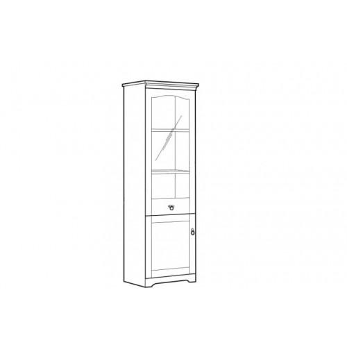 Витрина REG1D1W 63 Патрик (Аляска) - Мебельный интернет-магазин Sensey-mebel приобрести