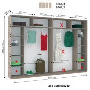 4-х дверный Шкаф Купе В-364 (Виват)