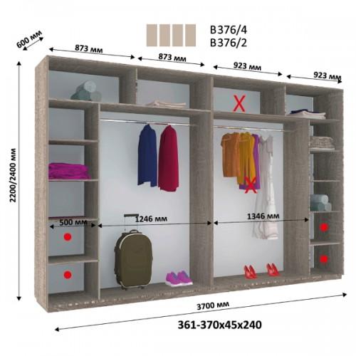Шкаф купе В-376 (Виват) - Мебельный интернет-магазин Sensey-mebel приобрести