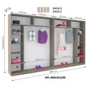 4-х дверный Шкаф Купе В-404 (Виват)