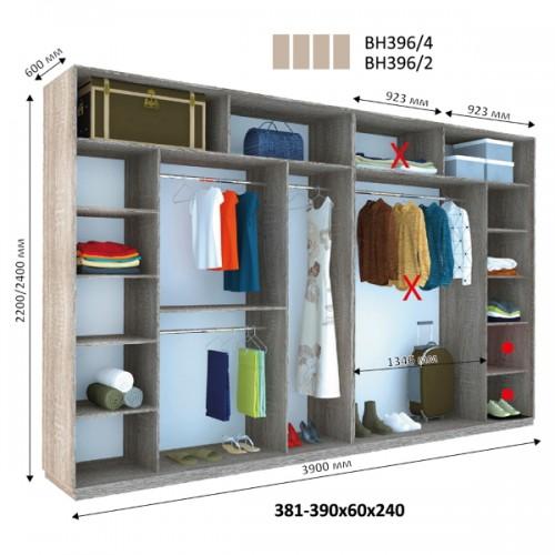 Шкаф купе ВН-396 (Виват) - Мебельный интернет-магазин Sensey-mebel приобрести