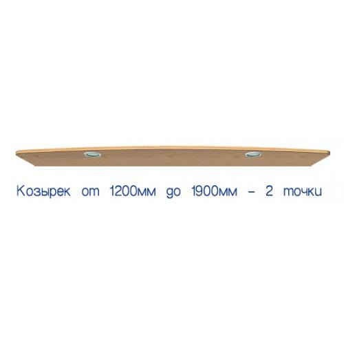 Козырек с подсветкой от 120 до 190 (стандарт) - Мебельный интернет-магазин Sensey-mebel приобрести
