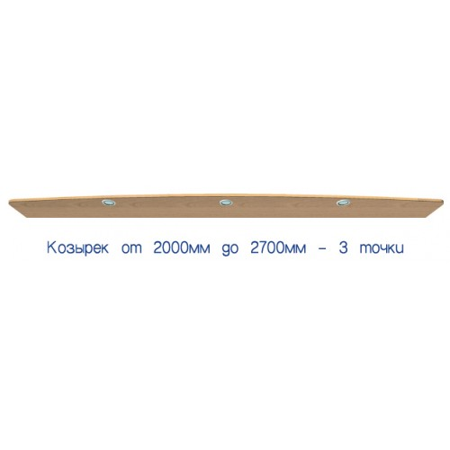 Козырек с подсветкой от 200 до 240 (стандарт) - Мебельный интернет-магазин Sensey-mebel приобрести