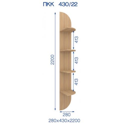 Радиусная приставка БКК-43/22 (Бюджет) - Мебельный интернет-магазин Sensey-mebel приобрести