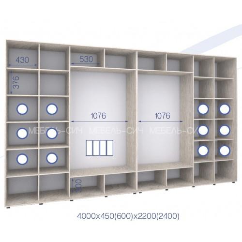 Шкаф купе HK-400/60/2400-01-4F (Стандарт) - Мебельный интернет-магазин Sensey-mebel приобрести